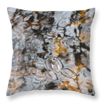 Throw Pillow featuring the photograph Froggy Abstract 1031 by Maciek Froncisz