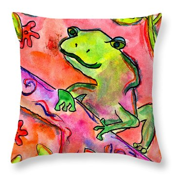 Froggy Throw Pillow