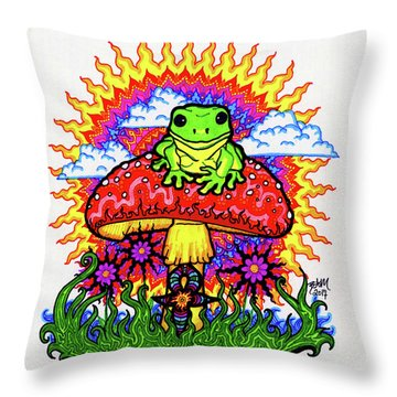 Froggy For Mukunda Throw Pillow