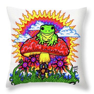 Froggy For Mukunda Throw Pillow