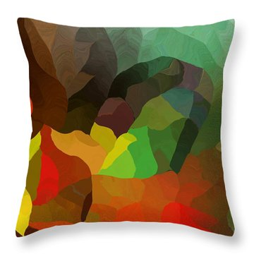 Frolic In The Woods Throw Pillow