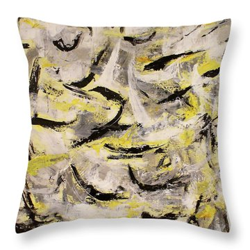 Frolic Throw Pillow by Mary Sullivan