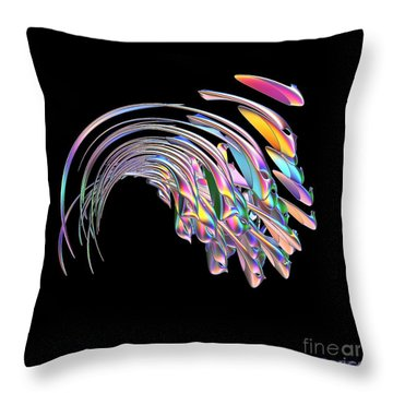 Throw Pillow featuring the digital art Frolicking Fishes  by Greg Moores