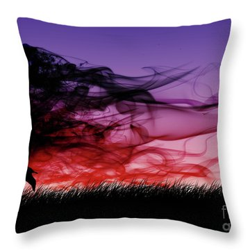 Frolicking Through The Meadow Throw Pillow