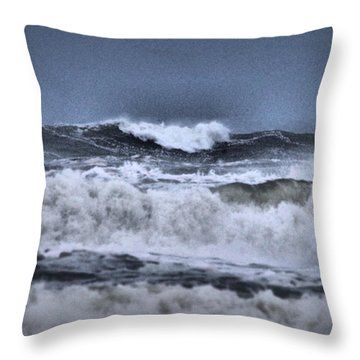 Throw Pillow featuring the photograph Frolicsome Waves by Jeff Swan