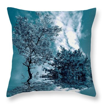 Frollicking Throw Pillow by Elfriede Fulda