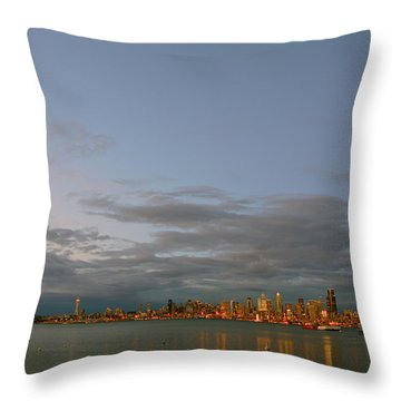 From Alki - Cloudy Night Throw Pillow