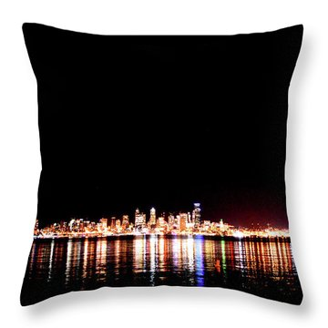 From Alki -wide Throw Pillow