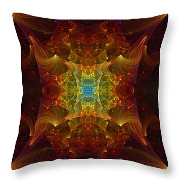 From Chaos Arisen Throw Pillow by Lea Wiggins