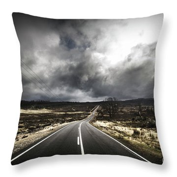 From Cradle To The Grey Throw Pillow