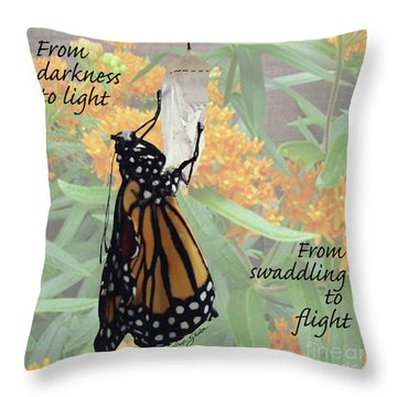 From Darkness To Light Throw Pillow