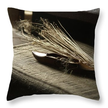 From Flax To Linen Throw Pillow by Emanuel Tanjala