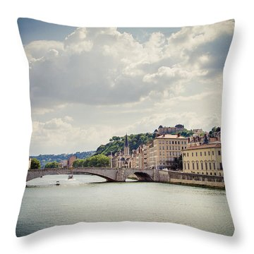 Throw Pillow featuring the photograph From Here To There by Jason Smith