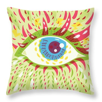 From Looking Psychedelic Eye Throw Pillow