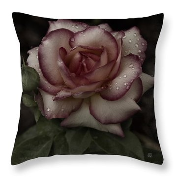From Me To You Winter Rose Throw Pillow