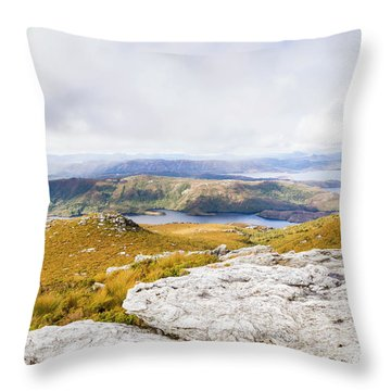 From Mountains To Lakes Throw Pillow