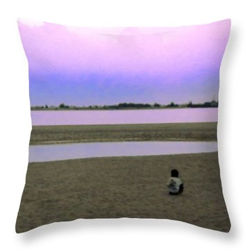 From My #photoarchive... Lonely #child Throw Pillow