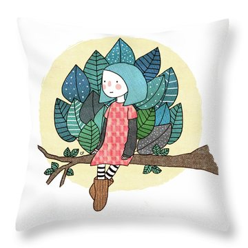 From My Throne Of Leaves, From My Bed Of Grass Throw Pillow