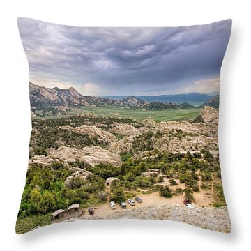 From On Top Of Bath Rock Throw Pillow