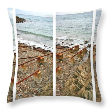 Throw Pillow featuring the photograph From Ship To Shore by Stephen Mitchell