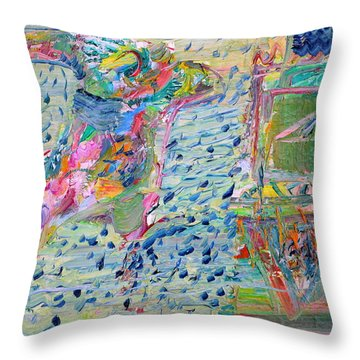 Throw Pillow featuring the painting From The Altered City by Fabrizio Cassetta