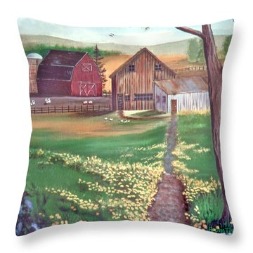 From The Back Porch Throw Pillow by Eileen Blair