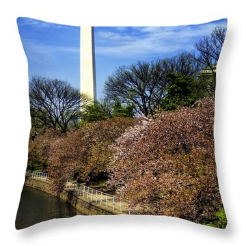 From The Basin To The Monument Throw Pillow