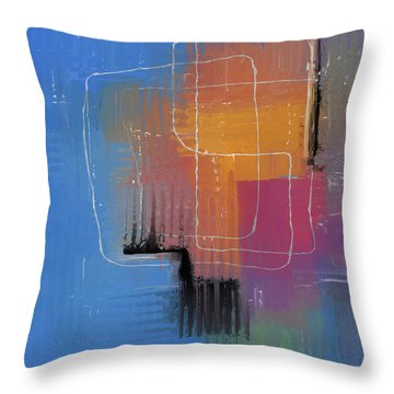 Throw Pillow featuring the mixed media From The Beginning by Eduardo Tavares