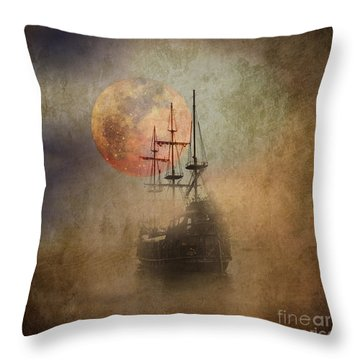 From The Darkness Throw Pillow by Barbara Dudzinska