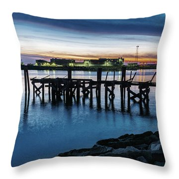 From The Fort Monroe Seawall Throw Pillow