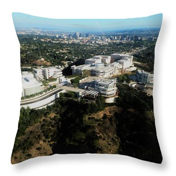 From The Getty To Downtown L.a. Throw Pillow
