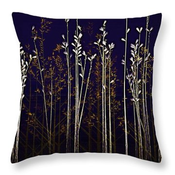 From The Grass We Creep Throw Pillow by Nick Heap