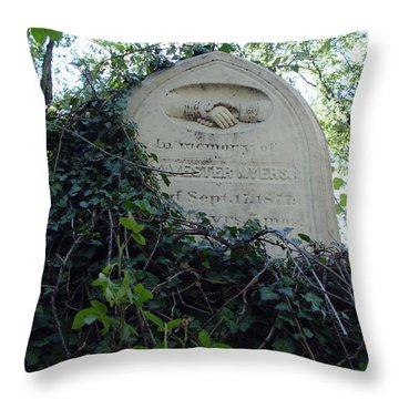From The Grave No3 Throw Pillow by Peter Piatt