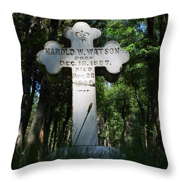 From The Grave No4 Throw Pillow by Peter Piatt