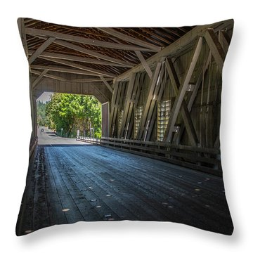 From The Inside Looking Out - Shimanek Bridge Throw Pillow