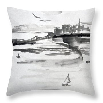 From The Marina Throw Pillow