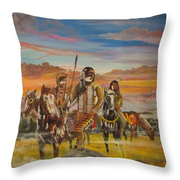 From The Mist They Came Throw Pillow