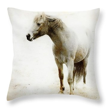 From The Scrapbook Zibs The Pony Throw Pillow