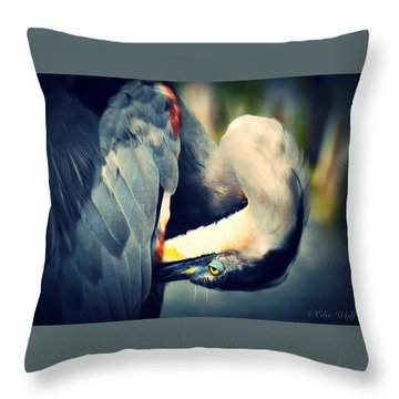 From The Series Great Blue Number 1 Throw Pillow