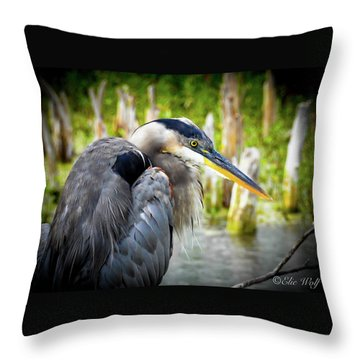 From The Series Great Blue Number 2 Throw Pillow