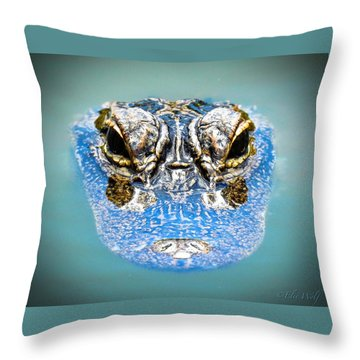 From The Series I Am Gator Number 4 Throw Pillow