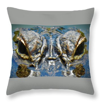 From The Series I Am Gator Number 7 Throw Pillow