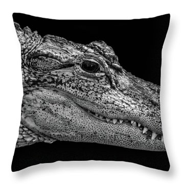 From The Series I Am Gator Number 9 Throw Pillow