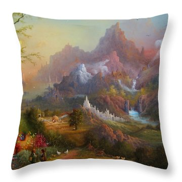 From The Shire To The Sea Throw Pillow by Joe  Gilronan