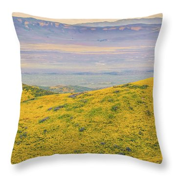 Throw Pillow featuring the photograph From The Temblor Range To The Caliente Range by Marc Crumpler