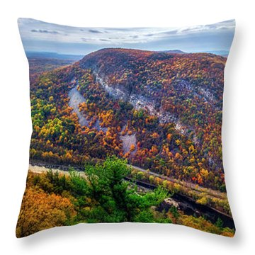 Throw Pillow featuring the photograph From The Top Of Mount Tammany by Mark Papke