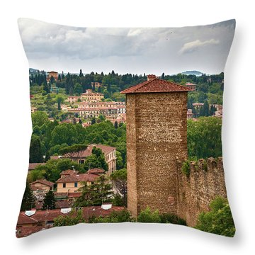From The Top Of The Gardens Throw Pillow