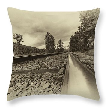Throw Pillow featuring the photograph From The Track Antique by Darcy Michaelchuk