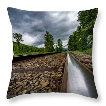 Throw Pillow featuring the photograph From The Track by Darcy Michaelchuk