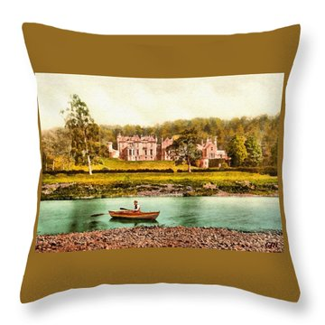From The Tweed, Abbotsford, Scotland - 1890 L A S Throw Pillow